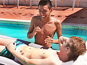 twinks Horny n naughty teeanges fuckin outdoors by the swimming pool