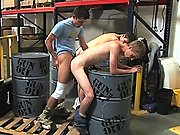 twinks Warehouse Boss decides to discipline his employees with his cock!