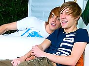 twinks Wild pair of twinks surprising each other on couch fucking wild!