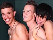 twinks Adventurous bad studs involving in hot bareback threeway